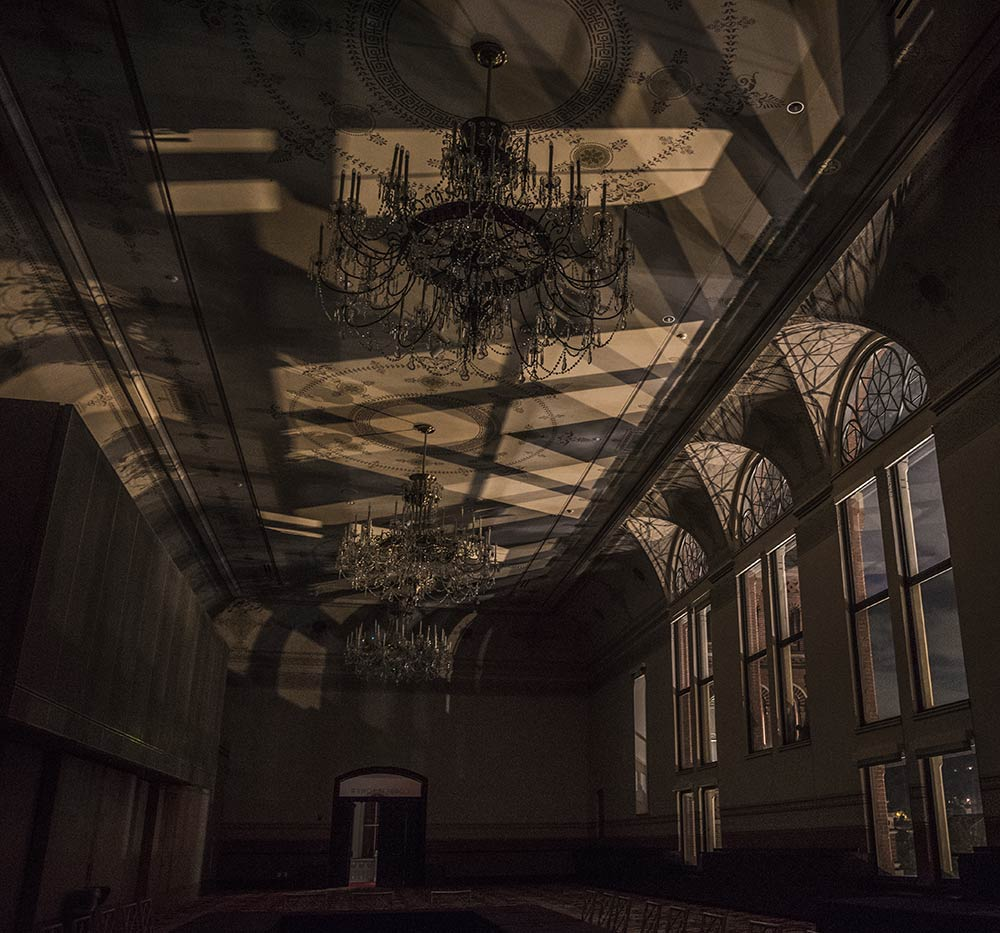 Corbett Tower in Cincinnati Music Hall during a 2019 Guided Ghost Tour