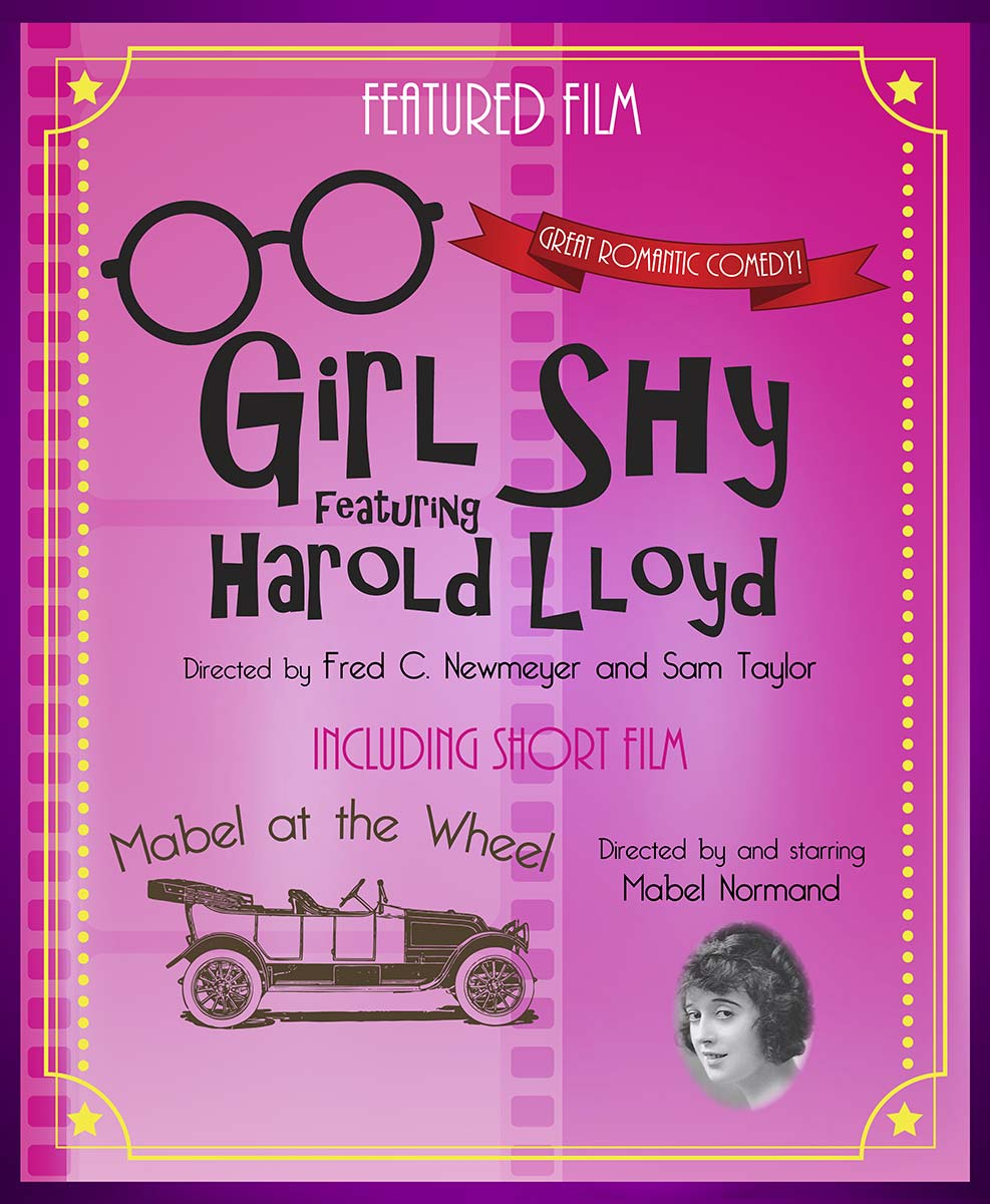 Silent Movies Made Musical Double Feature Girl Shy and Mabel at the Wheel
