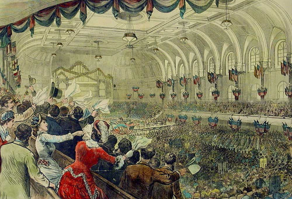 Ladies in the Gallery at the 1880 Democratic National Convention in Cincinnati Music Hall