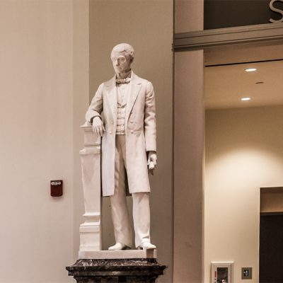 Statue of Reuben R. Springer in Cincinnati Music Hall