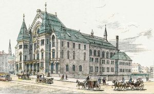 sketch of Cincinnati Music Hall from The Daily Graphic, dated 1878-05-15