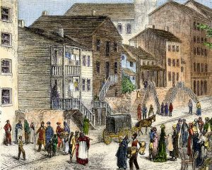 6 print titled Cincinnati In the Negro Quarter by Ernst von Hesse-Wartegg, 1876 Credit - North Wind Picture Archives