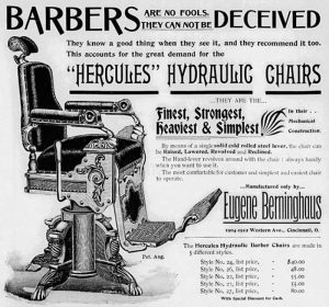 11-Ad for Berninghaus Baber Chair, in The Western Barber, 1898