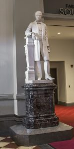 Statue of Reuben Springer in Cincinnati Music Hall
