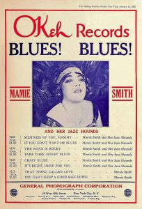 Advertisement for OKeh Records for Mamie Smith, in The Talking Machine World, New York, Jan. 15, 1921