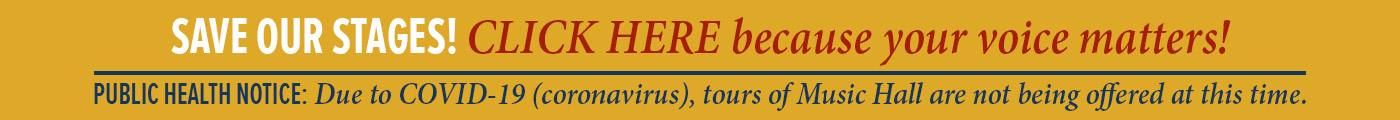 Save Our Stages Click here because your voice matters and public health notice tours on hold due to covid-19 coronavirus