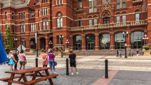 2 Friends of Music Hall Outdoor Building Tours of Cincinnati Music Hall, August 29, 2020