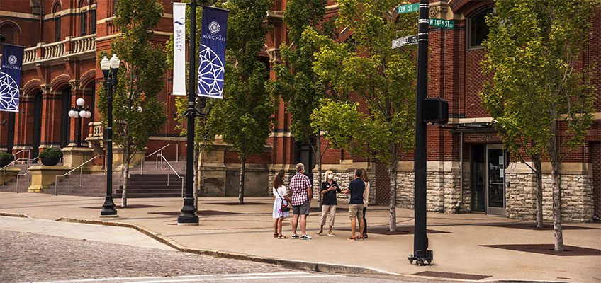 Outdoor Building Tour of Cincinnati Music Hall