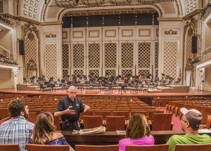 Co-author Ron Hoffman leading 2019 tour inside Music Hall