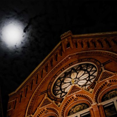 Full Moon over Music Hall following a Ghost Tour, January 2018