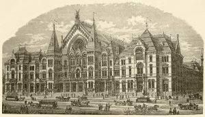 Engraving of Music Hall, 1879
