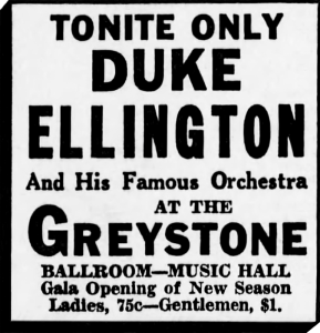 Duke Ellington Ad, Cincinnati Enquirer, September 9, 1931