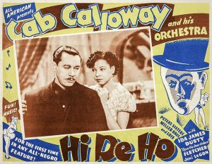Hi De Ho Movie Ad, Ida James plays Cab Calloway's manager