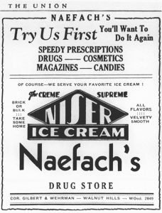 Naefach's Drug Store, Walnut Hills, The Union, March 15, 1934