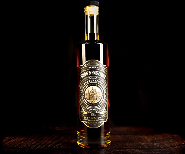 Hook & Hastings Bourbon Whiskey, created with wood reclaimed from the original Music Hall pipe organ to help fund ArtsWave projects