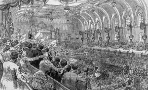 1880 Democratic National Convention, by Joseph B. Beale, Frank Leslie's Illustrated, July 3, 1880.