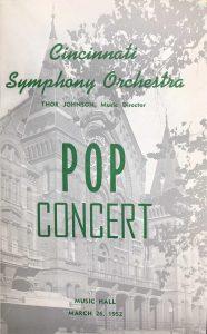Cover, Pop Concert program, 3/26/1952