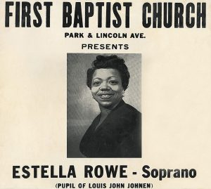 Estella Rowe Poster for Recital at the First Baptist Church, Courtesy of Donald Hurd
