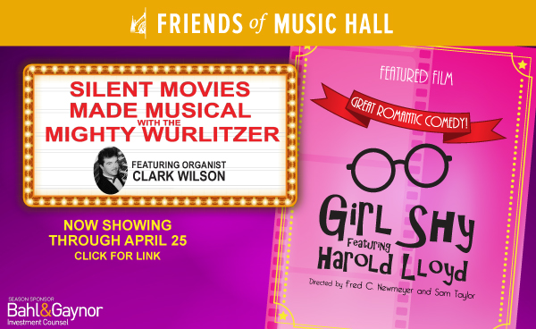 Girl Shy with Clark Wilson at the Wurlitzer keyboard now showing through April 25, 2021