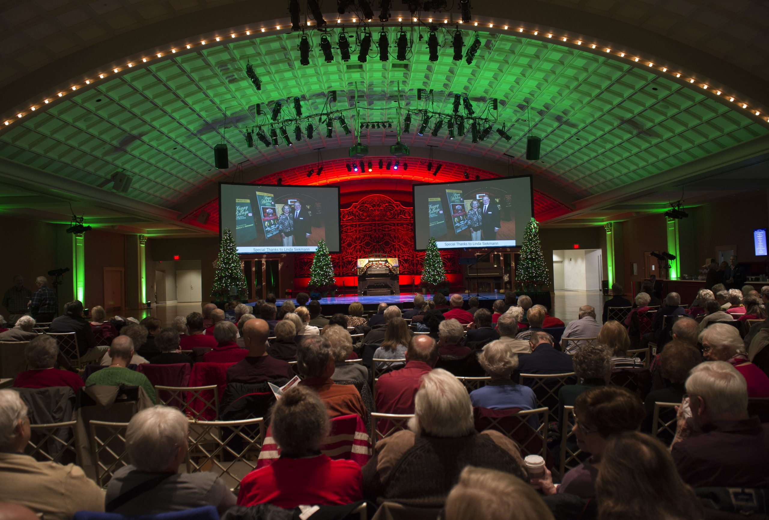 Happy Holidays with the Mighty Wurlitzer Organ on December 10, 2021 in the Ballroom.