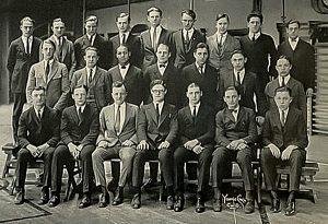 Woodward High School Football Team Seniors, 1924. Courtesy Archives & Rare Books Library, University of Cincinnati.