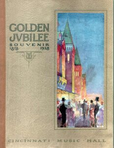 Cover of the Souvenir Book for th e1928 Golden Jubilee