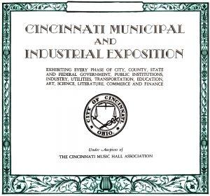 Cincinnati Municipal and Industrial Exposition, May 27-June 9, 1935